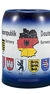 Deutschland Map Blue Bavarian Mug