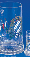 BAVARIAN FLAGS FATHER & SON STEIN