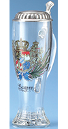 BAVARIAN CREST GLASS STEIN