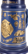 History of Firefighting Stein