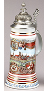 Old Munich Porcelain Stein