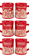 Farmall Set/6 Relief Mugs
