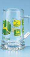 *JOHN DEERE HISTORICAL TRADEMARK GLASS MUG