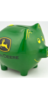 *JOHN DEERE MEDIUM PIGGY BANK