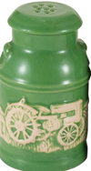 JOHN DEERE MILK CAN SALT AND PEPPER SET