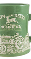 JOHN DEERE MODEL D RAISED-RELIEF DINER MUG