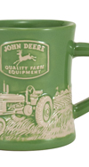 JOHN DEERE MODEL B RAISED-RELIEF DINER MUG