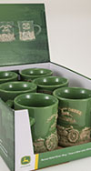 John Deere 9 Pc Raised-Relief Diner Mug PDQ Display