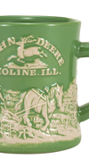 JOHN DEERE HORSE AND PLOW RAISED-RELIEF DINER MUG