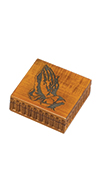 MAPLE PRAYING HANDS BOX