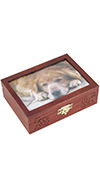 Small Picture Frame Box with Paws and Hearts