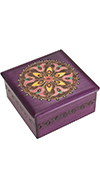 Purple Box w/Geometric Design