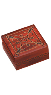 SMALL WOODEN BOX WITH INLAID HEART