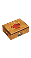 WOODEN TEA BOX WITH PARTITIONS