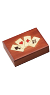 FOUR SUITS PLAYING CARD BOX