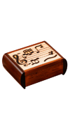 TRICK BOX WITH MUSIC NOTES