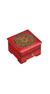 WOODEN BOX WITH INTRICATE DESIGN
