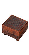 WOODEN CARVED TRICK BOX
