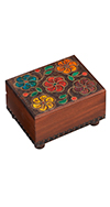 WOODEN FLORAL TRICK BOX