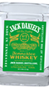 JD Etch White Bug Decanter