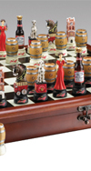 ANHEUSER BUSCH CHESS SET