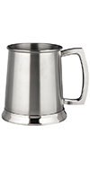 STAINLESS STEEL SATIN TANKARD